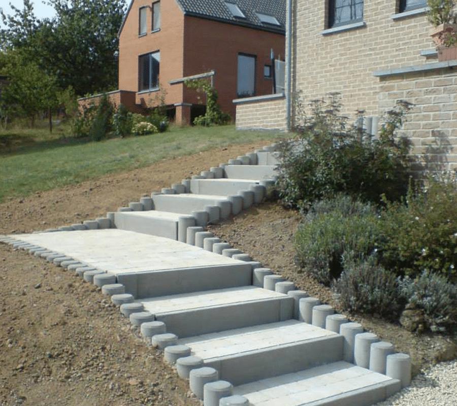 escalier exterieur klinkers